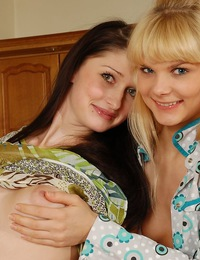 Horny teen girlfriends have real bi-curiosity